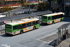 Bus terminus outside Kasai station at the Metro Museum