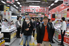 I had nothing to buy, so I just stood and stared inside the Yodobashi store