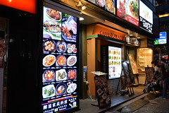 A typical Japanese ethnic restaurant in the Akihabara district