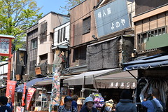 Interesting old wooden buildings in the by lanes near the Sensoji temple