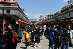 Nakamise Shopping Street was simply choc a bloc with Chinese tourists