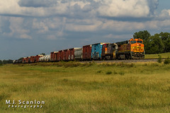 BNSF 532 | GE B40-8W | UP Brinkley Subdivision