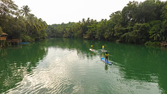 Clean river in the middle of a Tropical Forest, Palawan Island