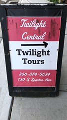 Twilight Central Sign @ Leppell's Flowers & Gifts, Forks, WA