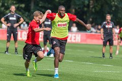 Fun practice session with German soccer player Vincent Koziello and striker Anthony Modeste