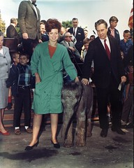 Baby elephant at opening of Children's Zoo, 1967