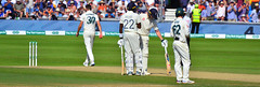 England batsmen Jofra Archer and Ben Stokes in conversation against Australia on Day 4 of the 3rd Test of the 2019 Ashes at Headingley