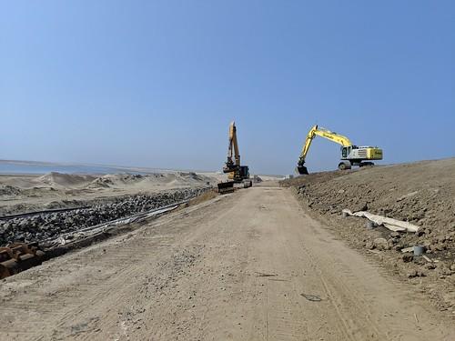 Texel bike path construction