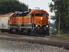 BNSF local in Marion, Ark.