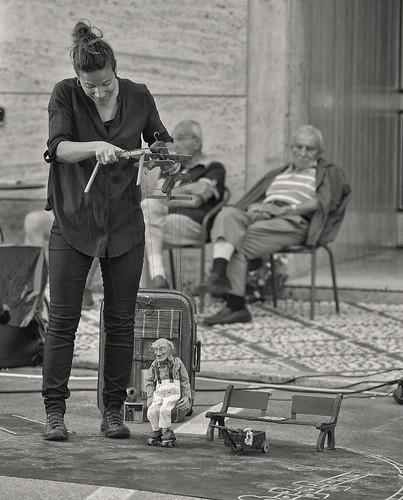 lo spettacolo delle marionette