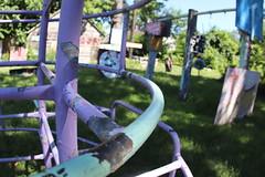 Rustic playground near Heidelberg Street