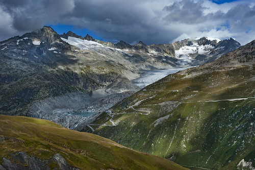 The Rhône Glacier and the Furka pass area , Canton of Valais & Uri. Switzerland. No. 2006.