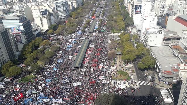 O maior ato se concentrou na cidade de Buenos Aires a partir das dez da manhã - Créditos: Foto: Reprodução