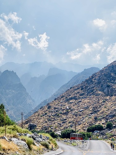 Coming up to the Palm Springs Aerial Tramway.