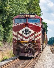 NS 8104 (ES44AC) Train 25Q Lehigh Valley Heritage Memphis, Tennessee