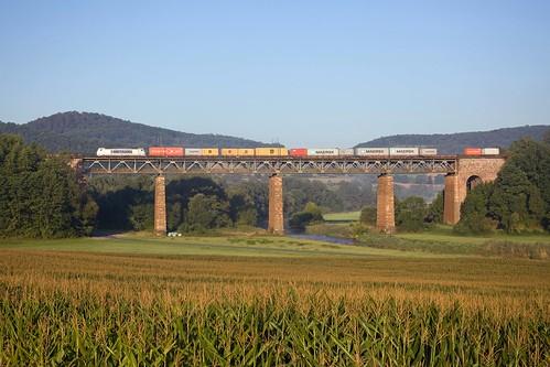 Metrans 386 016 + Güterzug/goederentrein/freight train  - Oberrieden