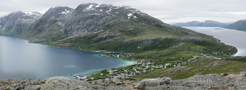 Arctic landscapes. Nattmalsfjellet. Ersfjord. Norway