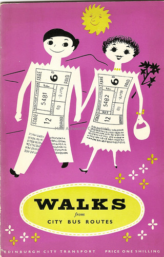 Edinburgh City Transport - walks from city bus routes booklet, c1958