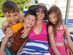 Anastasia & Kids At The Pool