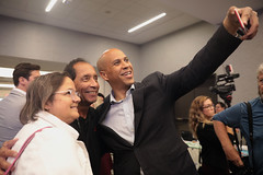 Cory Booker with attendees