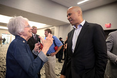 Cory Booker with attendee