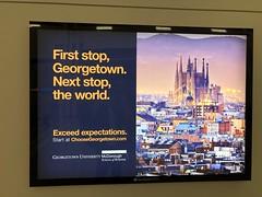 Georgetown University, Sagrada Familia in Barcelona: poster, Dulles Airport near Washington, D.C.