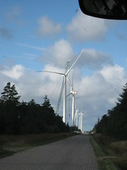 Wind Turibnes and Crane at Test Centre Østerild