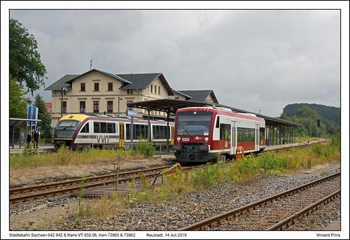 Städtebahn Sachsen 642 842 & Hans VT 650.06 - Neustadt - 73965 & 73962 (14-07-2019)