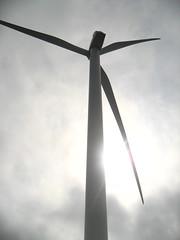 Wind Turbine Seen From Below