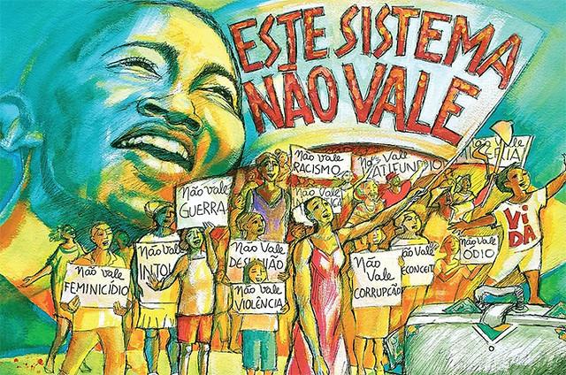 O Grito denuncia a injustiça e a desigualdade. O Grito anuncia luta, resistência, democracia e soberania - Créditos: Reprodução