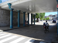 Cyclist and child