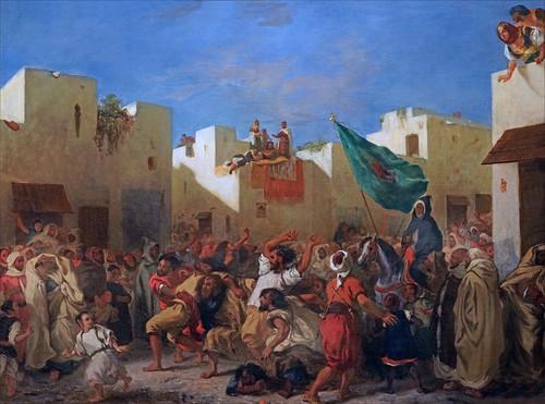 Les convulsionnaires de Tanger d'E. Delacroix (Petit Palais, Paris)
