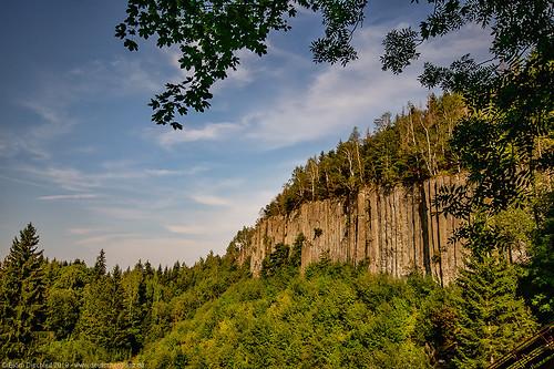 Die Basaltsäulen am Scheibenberg - Erzgebirge