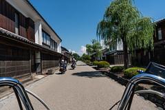 Riding through old Unno Juku town