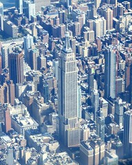 Empire State Building Seen From Above; New York, New York