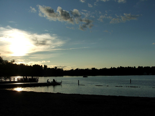 End of the day in Minocqua