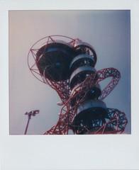 Polaroid of ArcelorMittal Orbit Slide at Queen Elizabeth Olympic Park, London