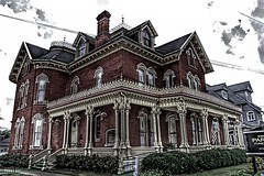 Binghamton New York ~ Earnest H. Parsons Funeral Home ~  Formerly J. Stuart Wells House ~ Historic