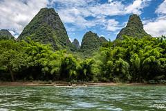 Along the Li River...