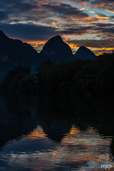 Sunset in Yangshuo.