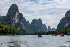 Along the Li River...