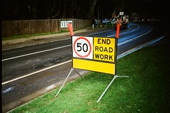 Sign - End Road Work