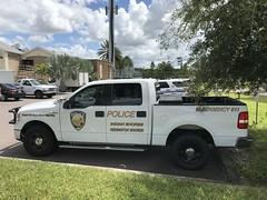 Indian Shores Police Dept. pickup