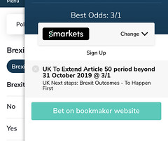 You can currently get 3/1 on an extension to Article 50