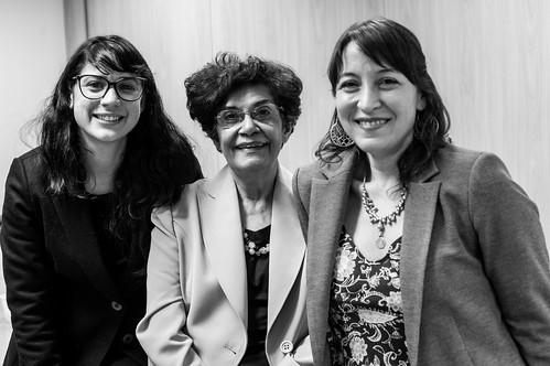 Ravena Olinda, Marilena Chaui e Jimena Solé