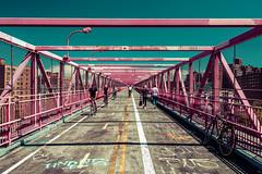 On the Williamsburg Bridge, NYC