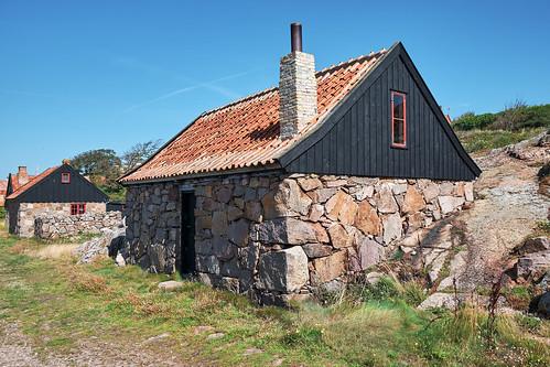 Fishermen's huts on Christiansø