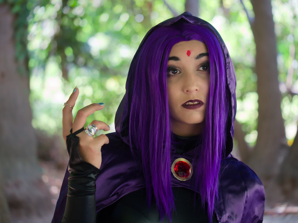 related image - Shooting Teen Titan - Fauve - Raven & Beast Boy - Jardin du Las - Toulon -2019-08-17- P1833312