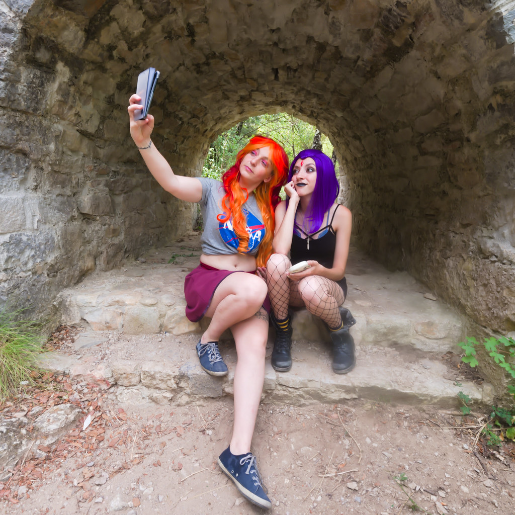 related image - Shooting Starfire & Raven - Teen Titans - Gorges du Caramy -2019-08-20- P1833420