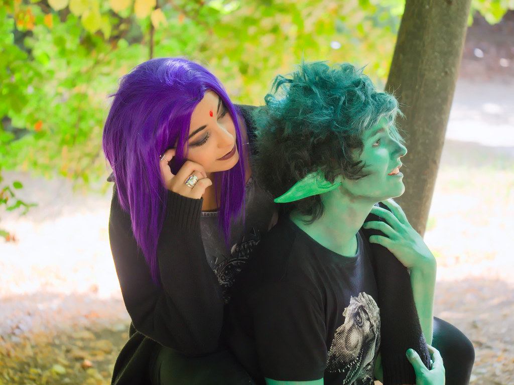 related image - Shooting Teen Titan - Fauve - Raven & Beast Boy - Jardin du Las - Toulon -2019-08-17- P1833273
